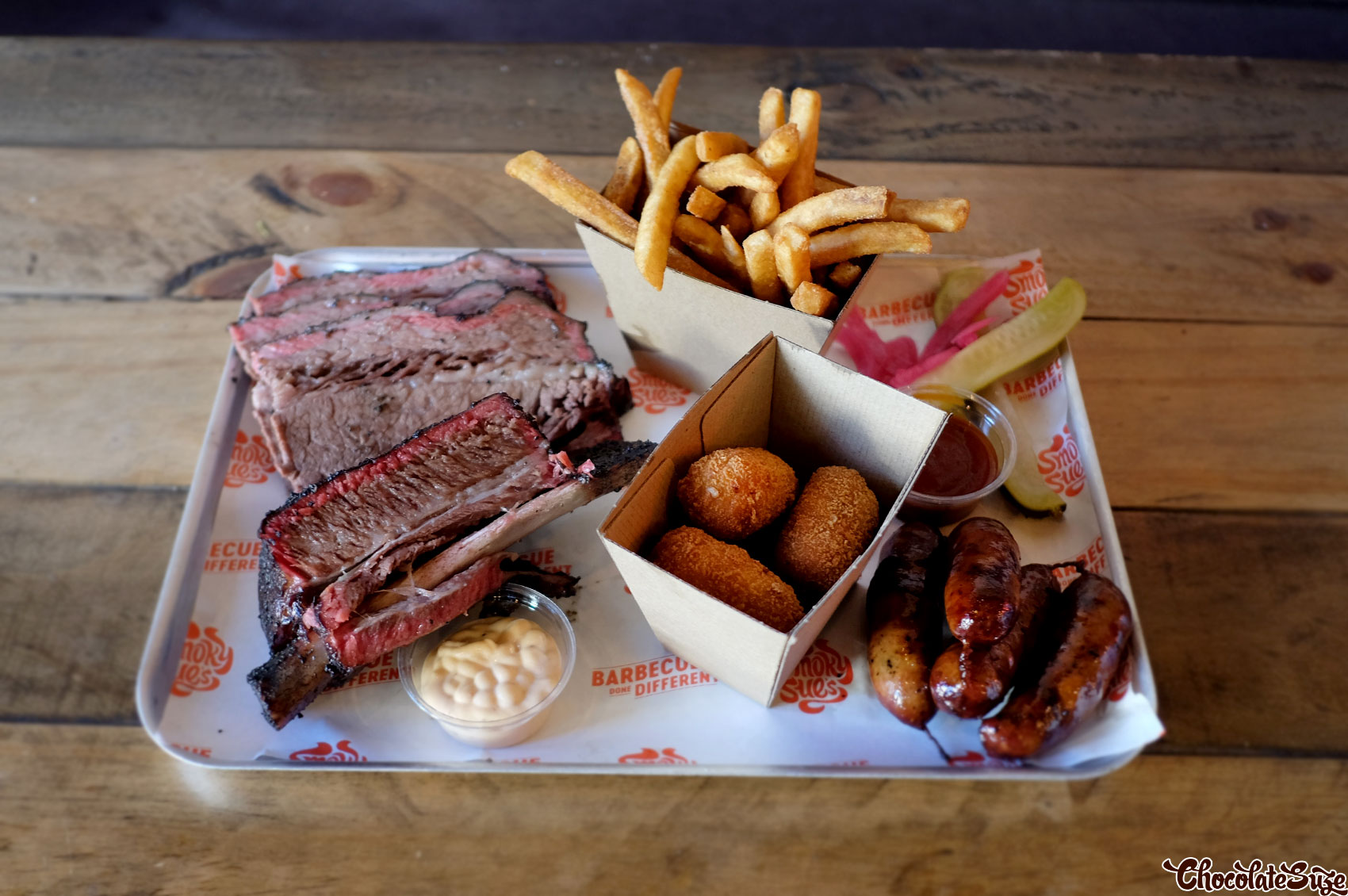 Barbecue platter at Smoky Sue's, Neutral Bay