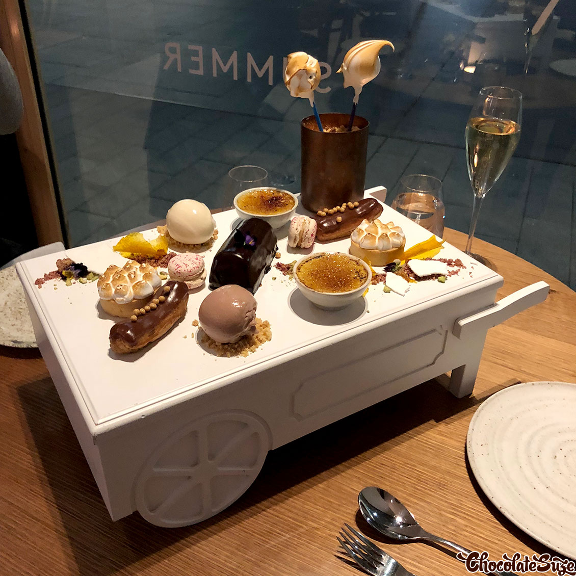 Dessert trolley at Ete, Barangaroo