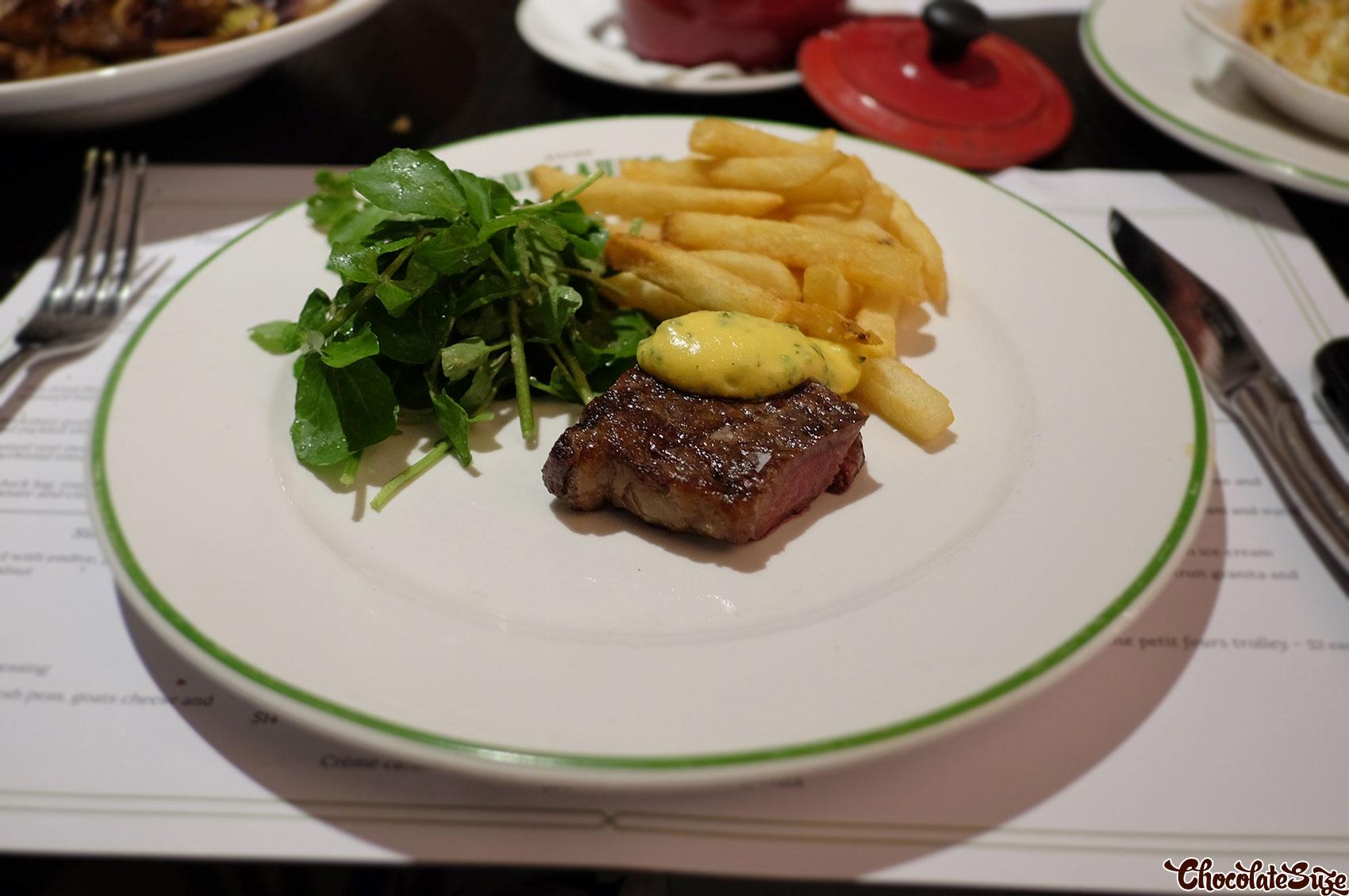 Steak at Bistro Guillaume, Sydney