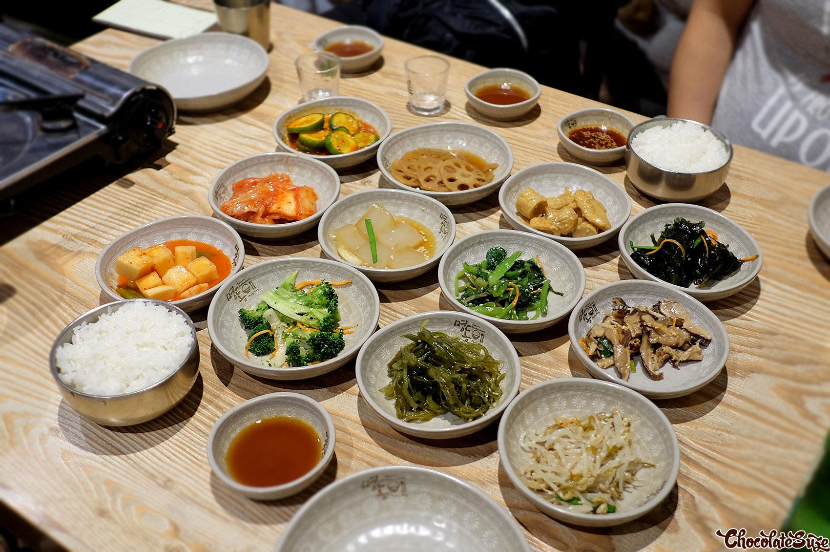 Banchan at Myeongdong Korean Restaurant, Strathfield