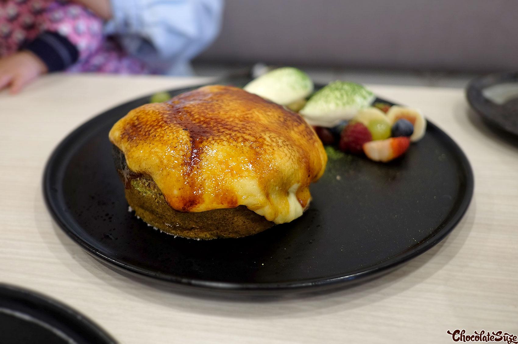 Matcha brulee pancake at Koku Culture Cafe, Ashfield