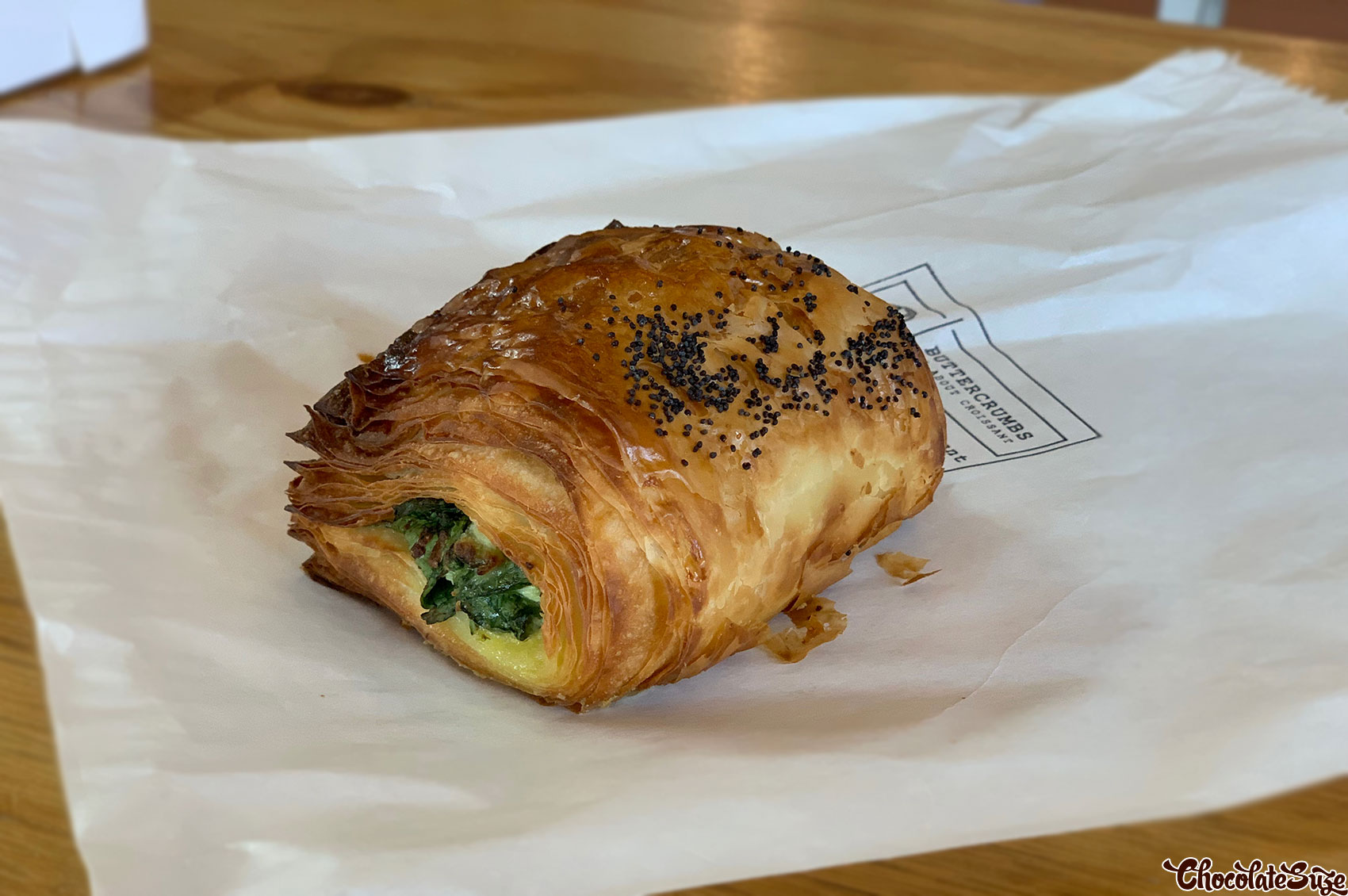 Spinach and ricotta croissant at ButterCrumbs Croissants, Rhodes
