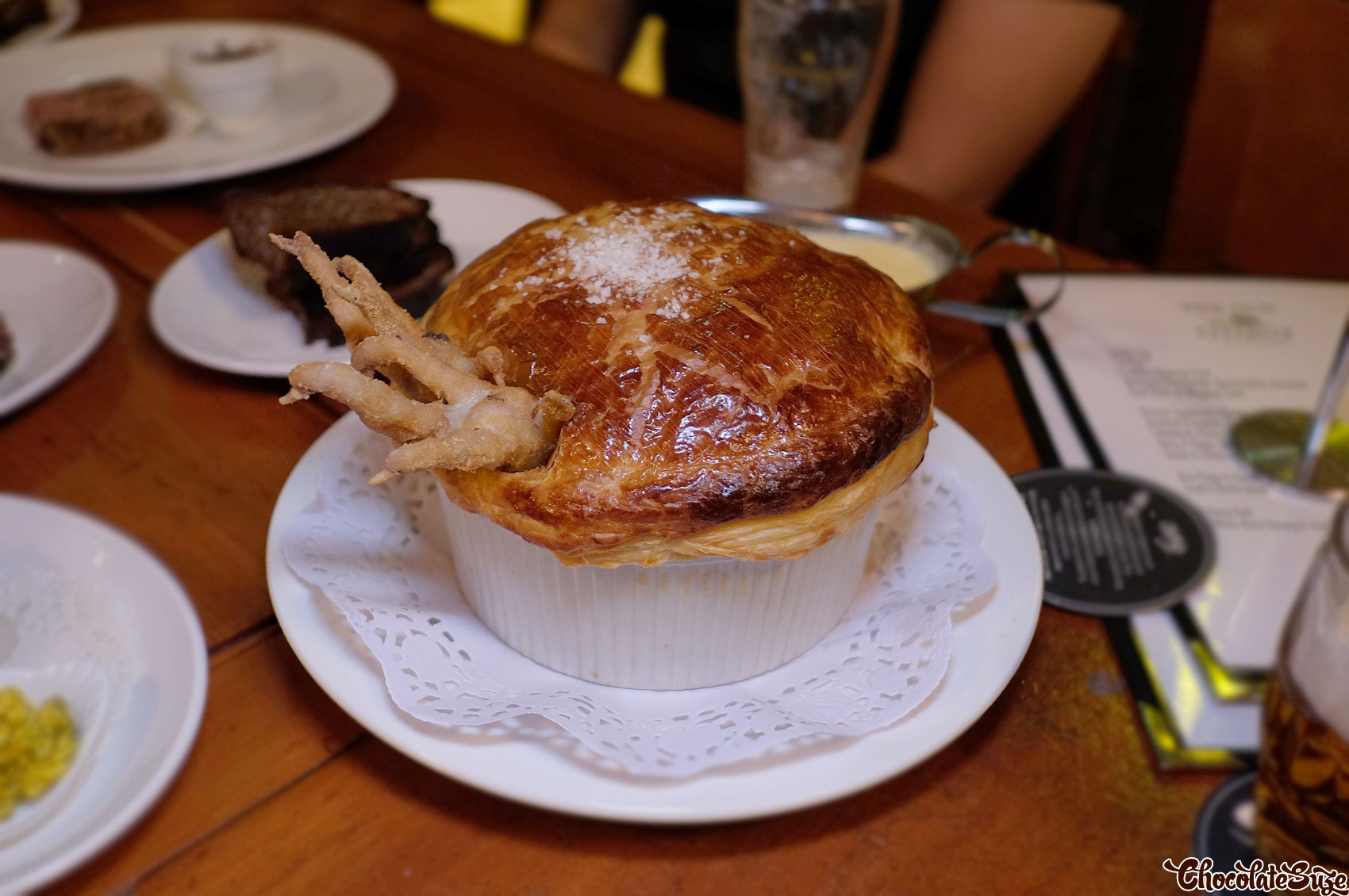 Roast chicken and artichoke pie for two at The Old Fitzroy Hotel, Woolloomooloo