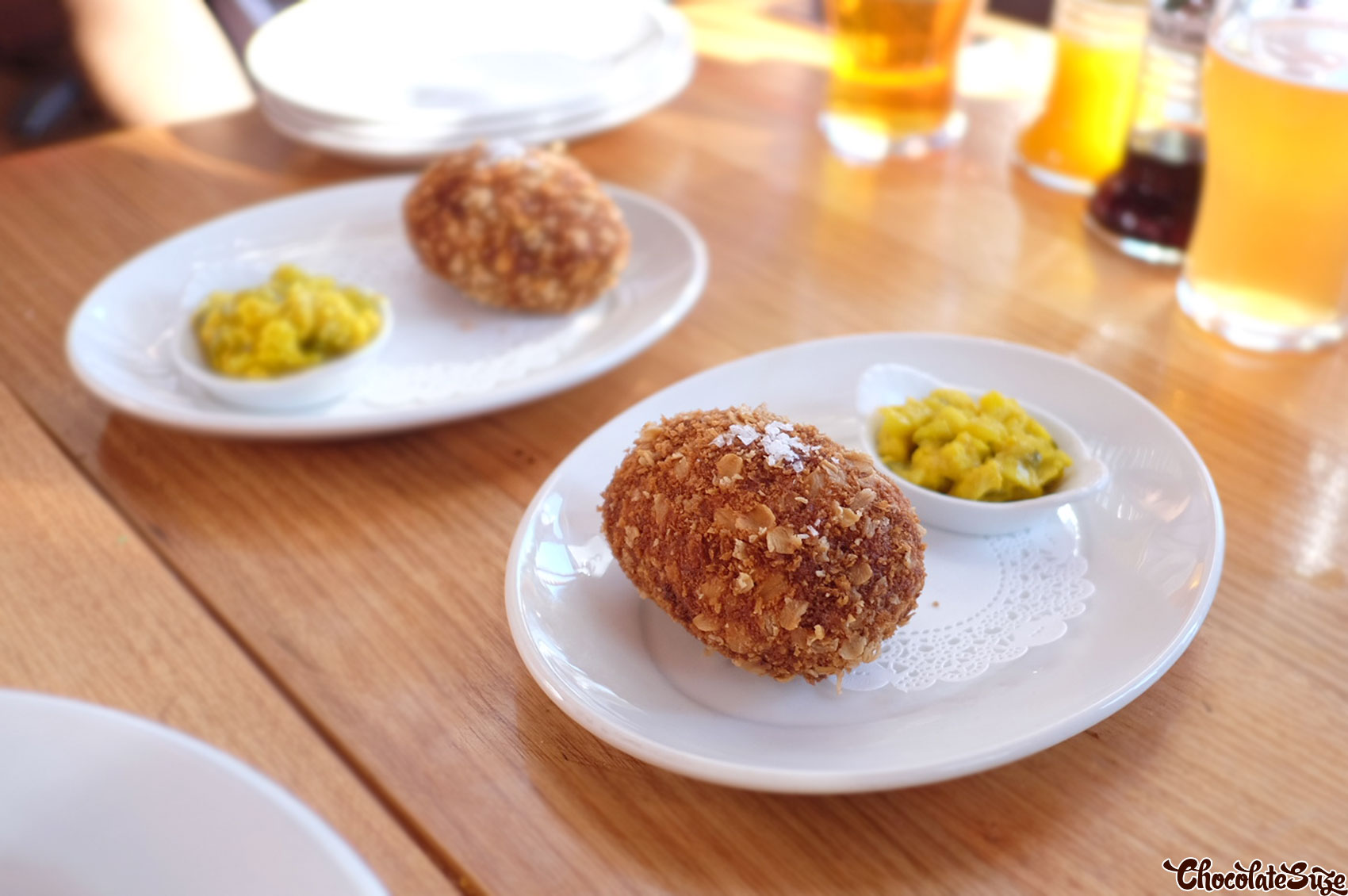 Scotch egg at The Old Fitzroy Hotel, Woolloomooloo