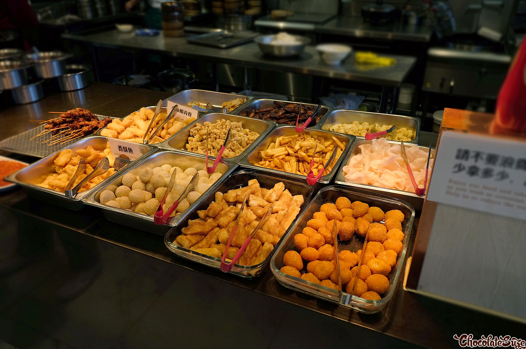 Fried food station, Legend Hot Pot buffet, Burwood