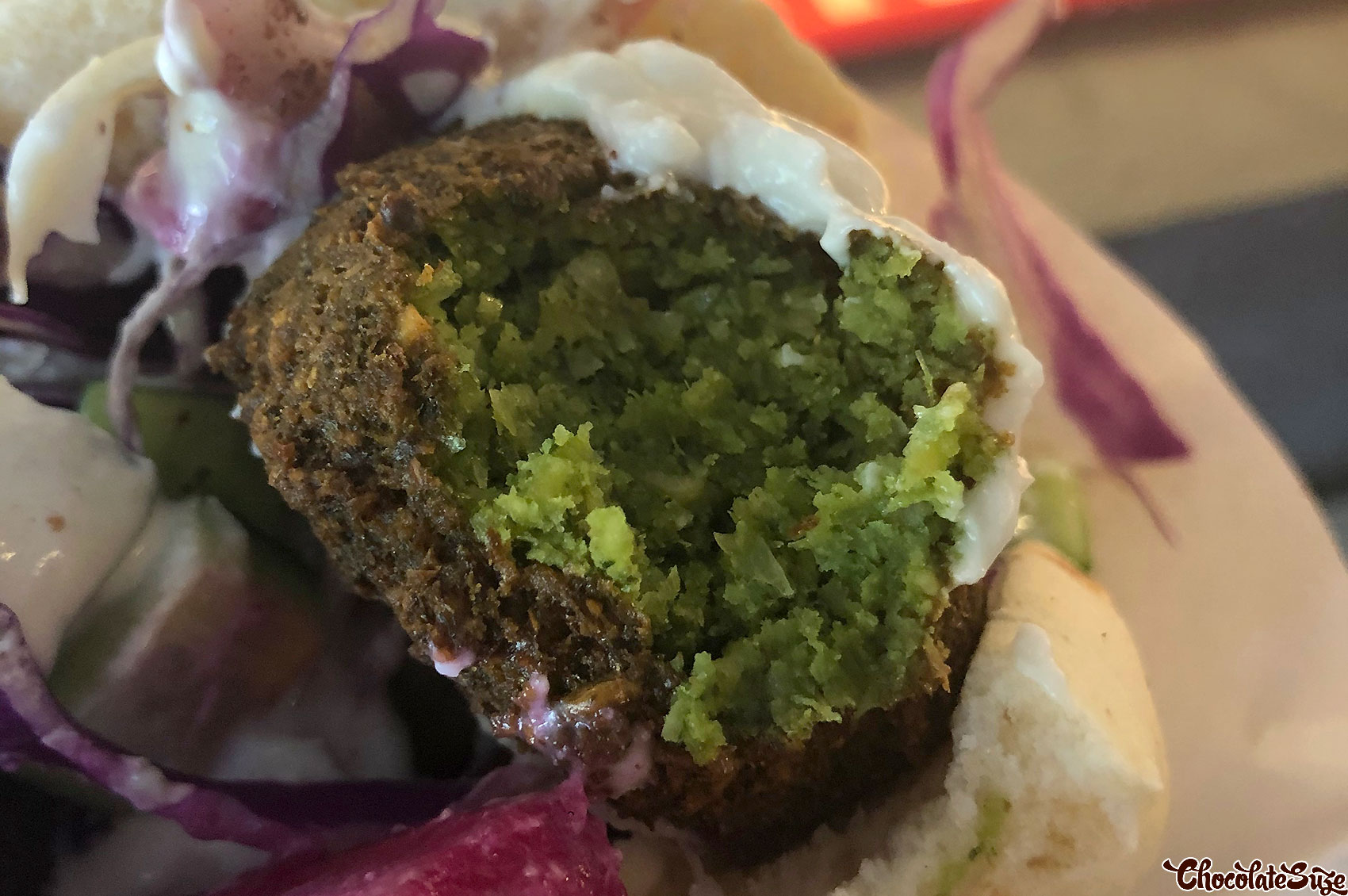 Falafel pita at Shwarmama, Surry Hills