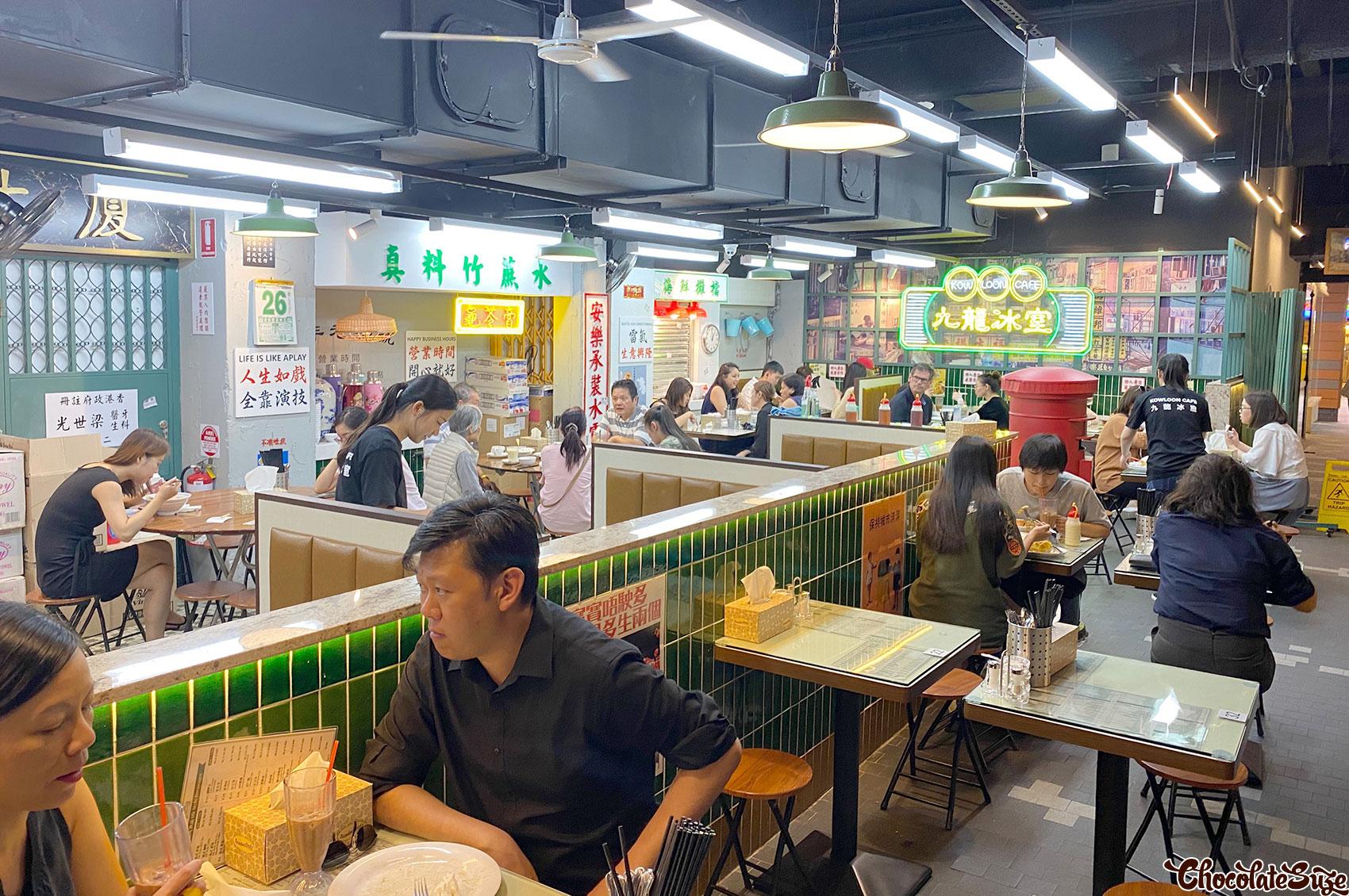 Inside restaurant at Kowloon Cafe, Haymarket