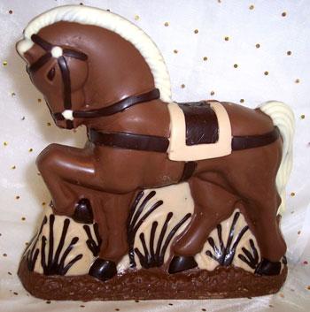 The Chocolate House Dobbin Chocolate Horse
