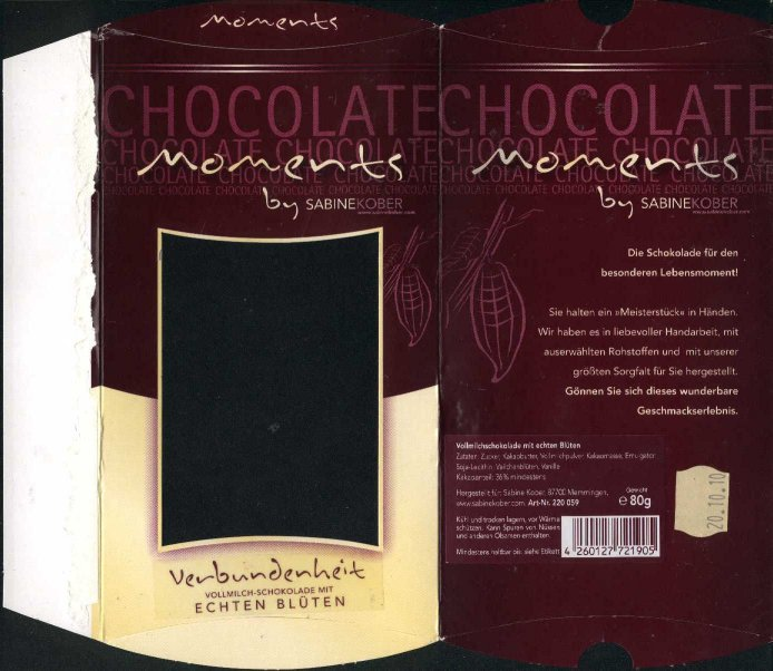 German chocolate wrappers