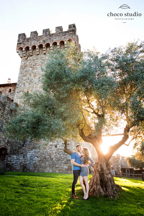 Castello Di Amorosa Engagement Photos In Calistoga