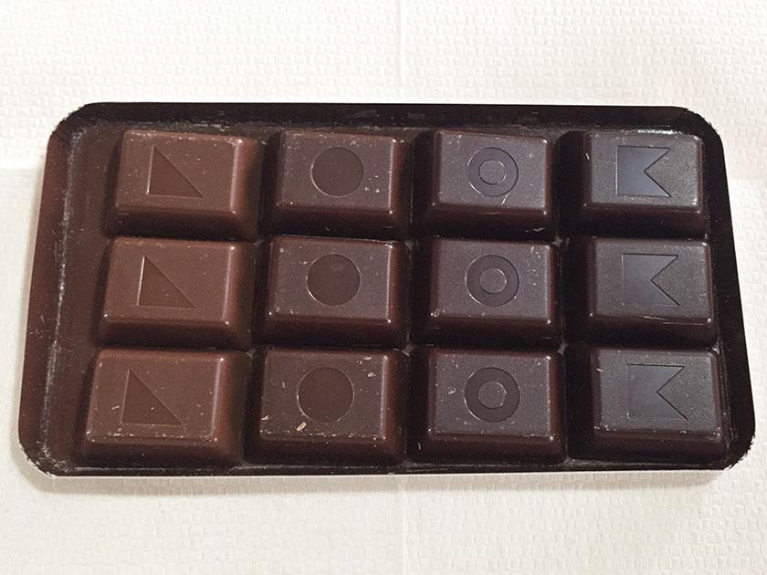『不二家』の「ルック4チョコレートコレクション」カカオ分について色も違う