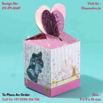 baby girl baby shower announcement chocolate boxes