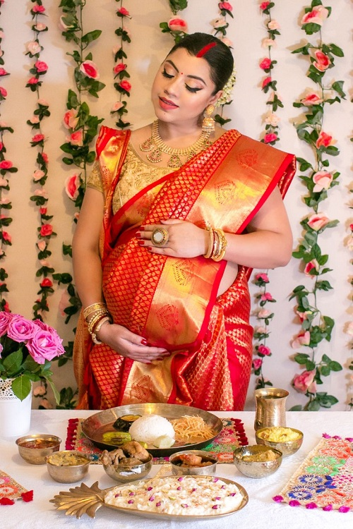 Baby Shower Ceremony Outfit In India
