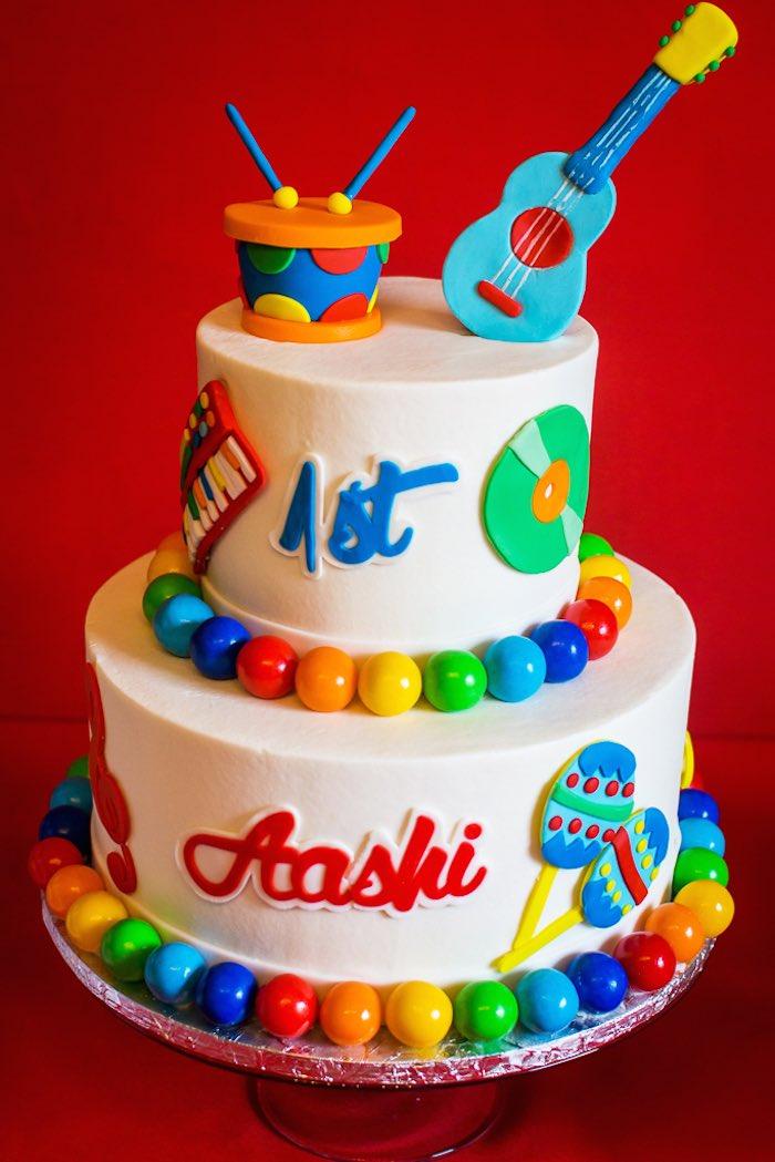 Musical Theme Cake For 1st Birthday