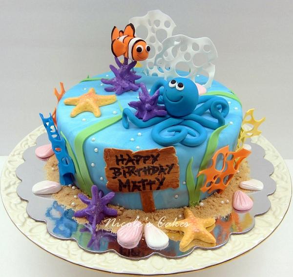 Ocean Theme Birthday Cake
