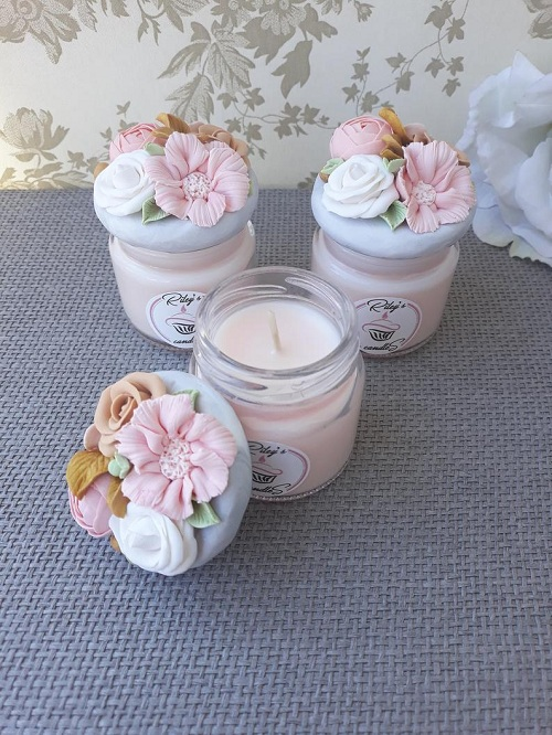 Scented Candles Favors for Baby Shower