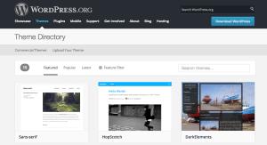 Zoznam všetkých šablón - WordPress.org