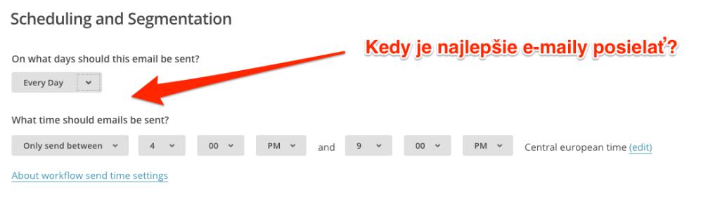Mailchimp: načasovanie e-mailov