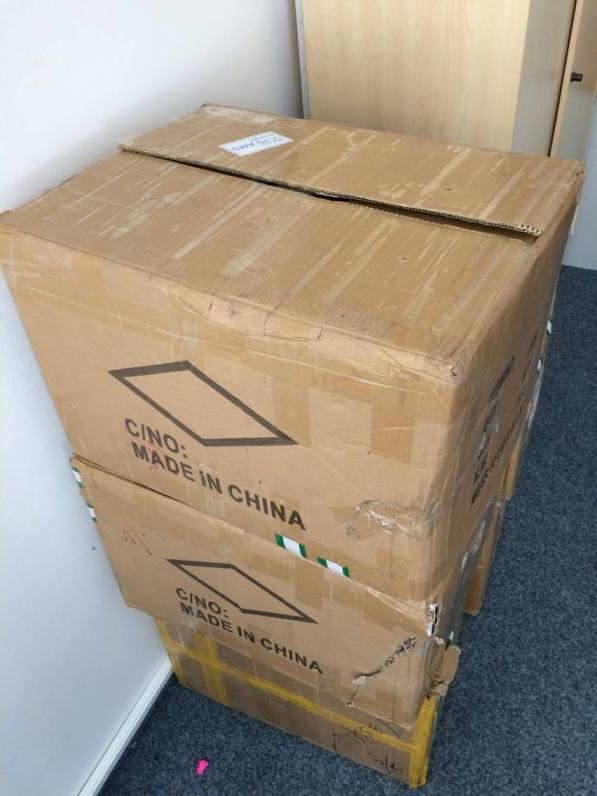 Predaj na Amazone - krabice