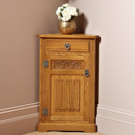 Wood Bros Low Corner Cabinet  Choice Furniture