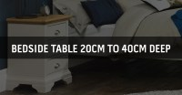 Bedside Table by Depth | Bedside Cabinet Depth Size in ...