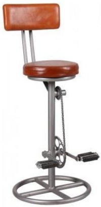 Buy Leather Bicycle Bar Stool with Back Online - CFS UK