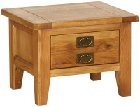 Buy Vancouver Petite Oak 1 Drawer Storage Small Coffee