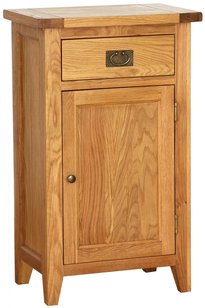 Vancouver Petite Oak Hall Cabinet  Tall with 1 Drawer