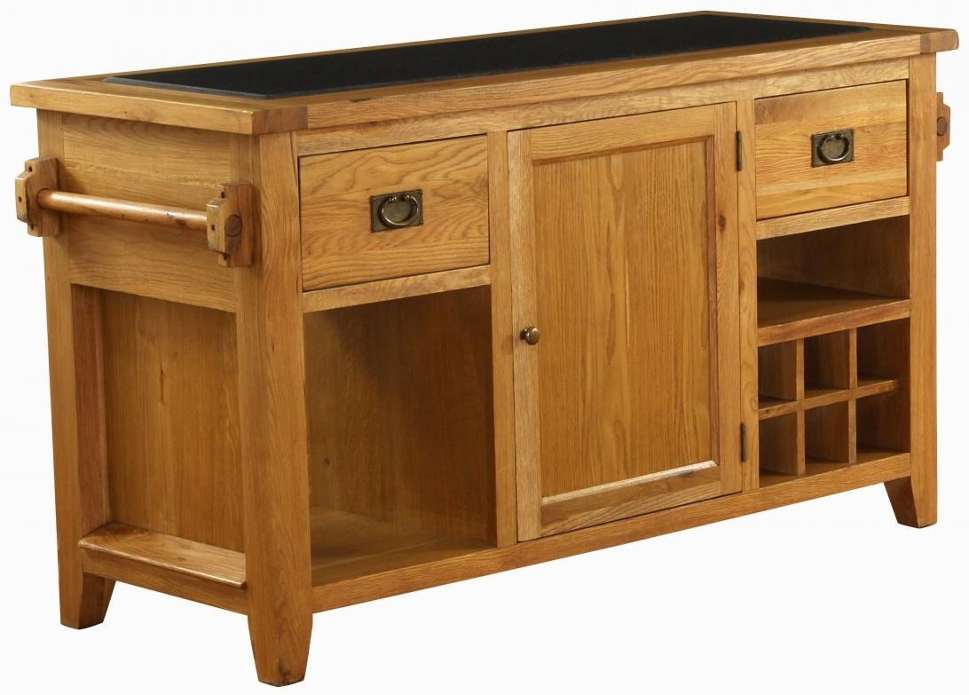 kitchen islands uk industrial table buy vancouver premium solid oak 1 door 2 drawer island with request a callback
