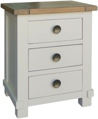 Buy Melton Reclaimed Pine Bedside Cabinet - 3 Drawer ...