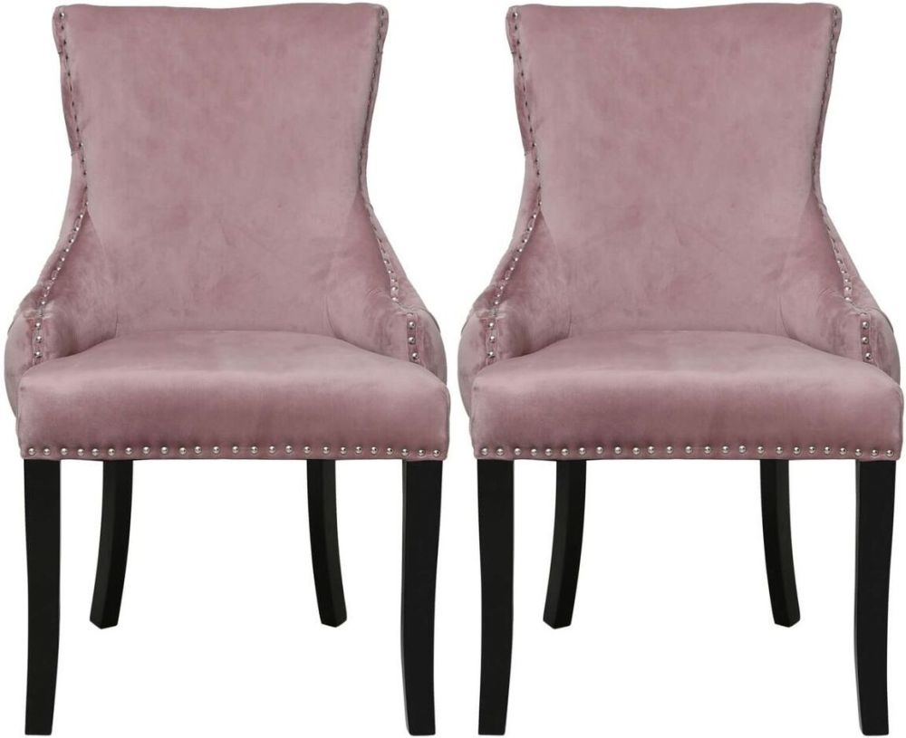 Buy Blush Pink Tufted Back Dining Chair Pair Online  CFS UK