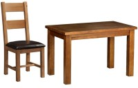 Buy Devonshire Rustic Oak Dining Set - Small Fixed Table ...