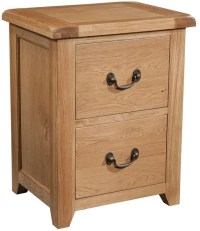 Buy Devonshire Somerset Oak Filing Cabinet - 2 Drawer ...