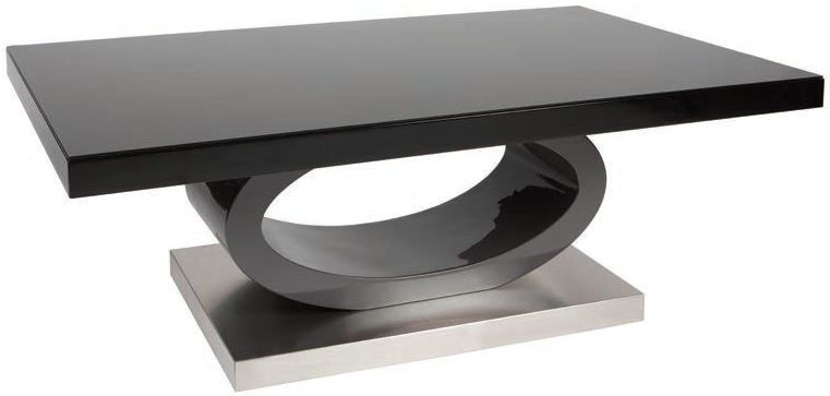 greenapple saturn glass top coffee table black high gloss and grey cfs furniture uk