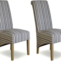 Fabric Dining Chairs Uk Ergonomic Chair Best 2018 Shop The Online Furniture Sale Cfs Homestyle Gb Richmond Striped Natural Pair