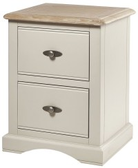 Buy Chester Ivory Bedside Cabinet - 2 Drawer Online - CFS UK