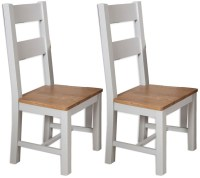 Buy Perth Oak and Grey Painted Dining Chair (Pair) Online ...