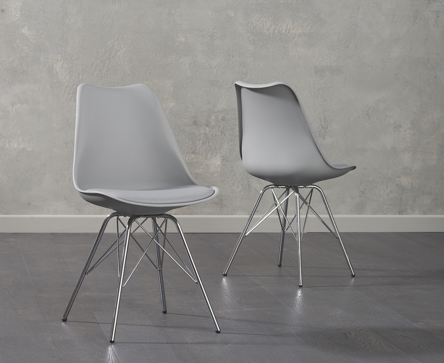 chrome dining chairs uk steelcase amia chair buy mark harris calabasus light grey faux leather