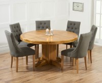 Buy Mark Harris Turin Solid Oak 150cm Round Dining Set ...