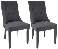 Buy RV Astley Cara Mottled Black Dining Chair (Pair