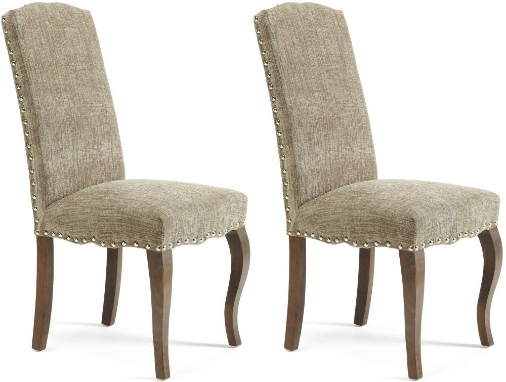 Buy Serene Kensington Bark Fabric Dining Chair with Walnut