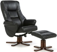 Buy Serene Drammen Black Faux Leather Recliner Chair ...