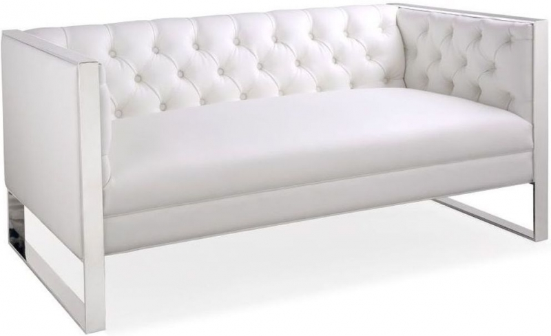 tufted button sofa corner couches with bed buy shankar oyster white leather match square edge