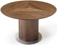 Buy Skovby SM32 Solid Wood Round Dining Table with Steel ...