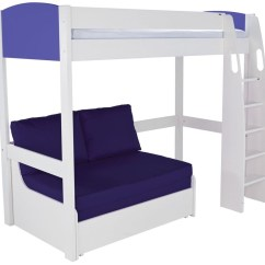 Sofa Pull Out Bed Frame Throws King Size Buy Stompa Blue High Sleeper With Double ...
