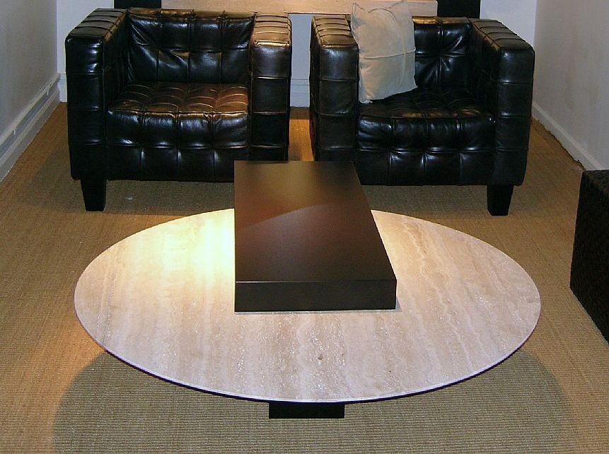 stone international helen round coffee table marble and wenge wood cfs furniture uk