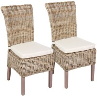 Buy The Wicker Merchant Wicker Chair with Cushion (Pair ...