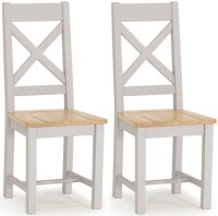 Buy Vida Living Clemence Grey Painted Dining Chair (Pair ...