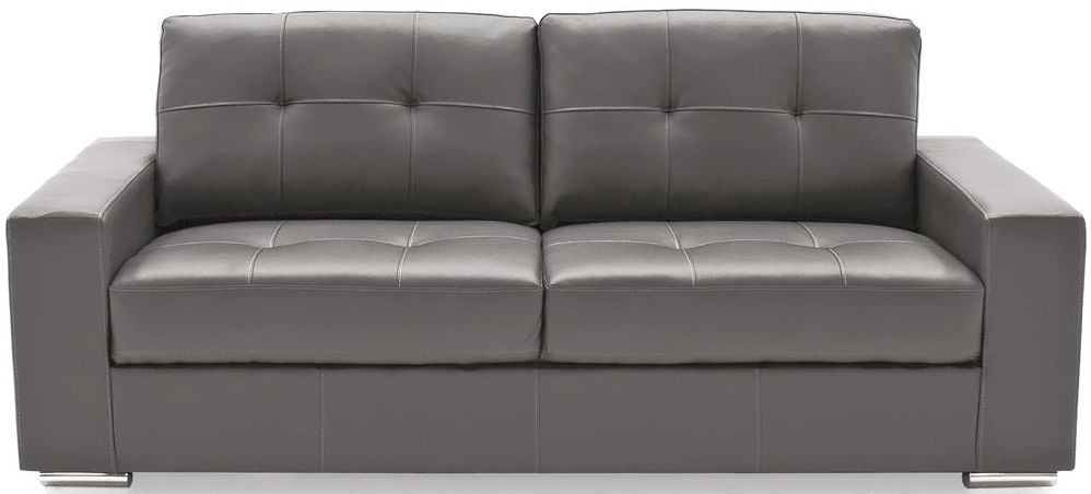 vida living gemona grey faux leather 3 seater sofa cfs furniture uk