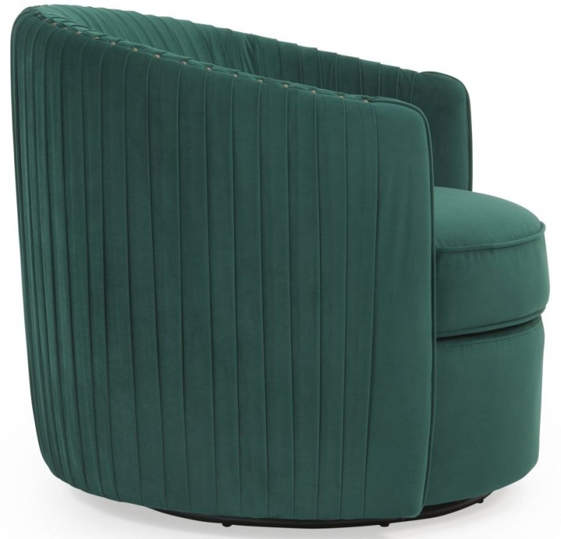 green velvet swivel chair walmart kids buy mark harris sarana online cfs uk